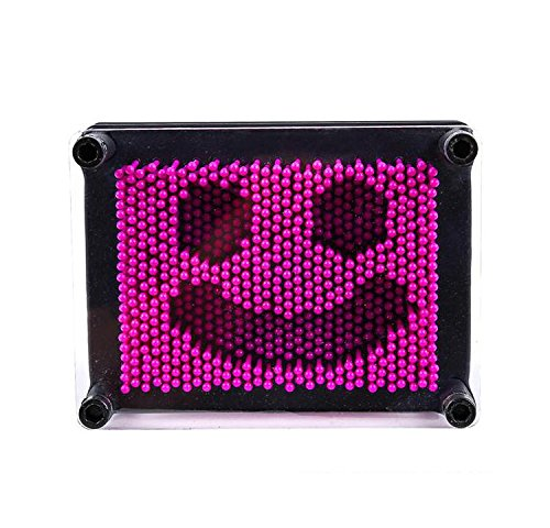 Bargain World 3.75'' X 5'' Purple Plastic Pin Art Game (With Sticky Notes) by Bargain World (Image #3)