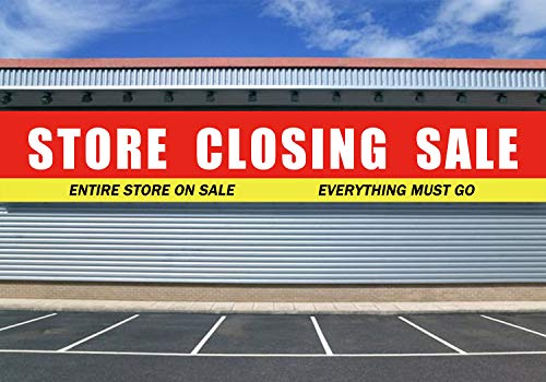 Large Store Closing Sale Banner, Store Close Sale Sign, Huge Shop Grocery Retail Business Advertising Sign(9.8 x 1.6feet)