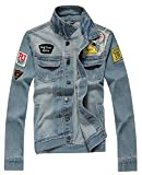 AvaCostume Men's Classic Lightweigth Jean Jacket Coat, L