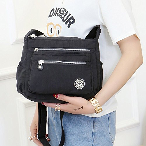 Body Bags Messenger Pocket Womens Black Shoulder Multi Nylon Casual Cross Fueerton Bag 8TRYCx