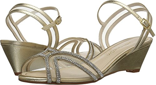 Caparros Womens Hilton Open Toe Bridal Slingback, Gold Metallic, Size 6.5