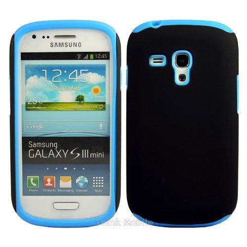 Samsung Galaxy S3 Mini i8190 Caso Elegante - Flora TPU Gel Case Sleeve Cover Para El Samsung Galaxy S3 Mini i8190 - thinkmobile Silicone Case Blue