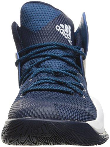 Zapatillas Adidas Performance Hombres Crazy Bounce Basketball Colegialas Navy / White / Unity Blue Fabric