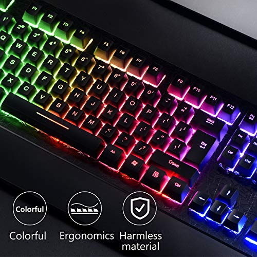 G30 Wired Gaming LED Backlit USB Ergonomic Pro Gamer Left Hand Single-Hand Control Keypad Mixed Color Keypad for PC Laptop Computer Cinhent One Handed Gaming Keyboard