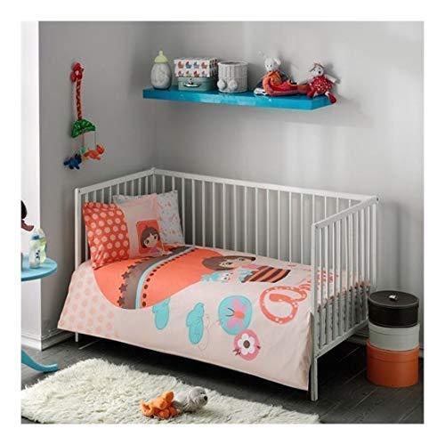 Disney from Tac Duvet Cover Set Baby Toddler Infant Kids 4 pcs 100% Cotton Turkish (Dora Baby)