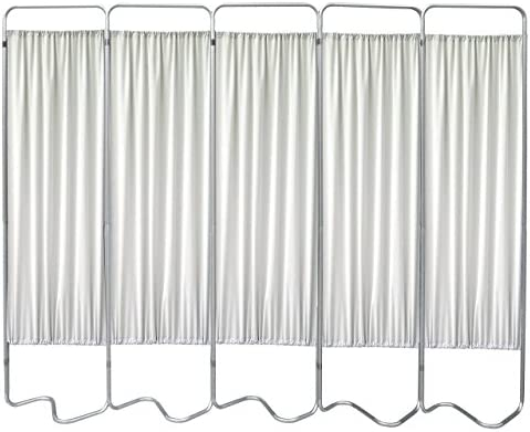 Omnimed 153055-45 Beamatic Privacy Screen with Fabric Panels, Frost, 5 Section