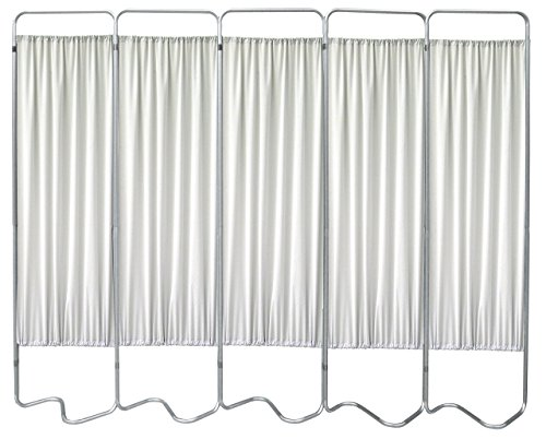 Omnimed 153055-45 Beamatic Privacy Screen with Fabric Panels, Frost, 5 Section by Omnimed