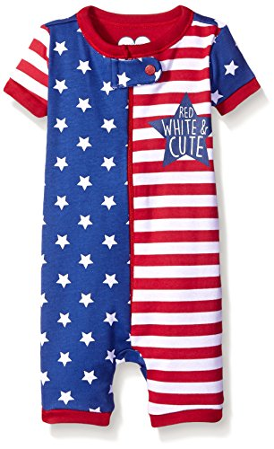 White Kids Pajamas (The Children's Place Baby Americana Stretchie, Galaxy Navy, 12-18)