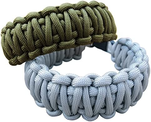 Zacro 400lb Survival Paracord Combo Crafting Kits Including 10ft Colorful Paracord Straps and 10 Random Color Buckles