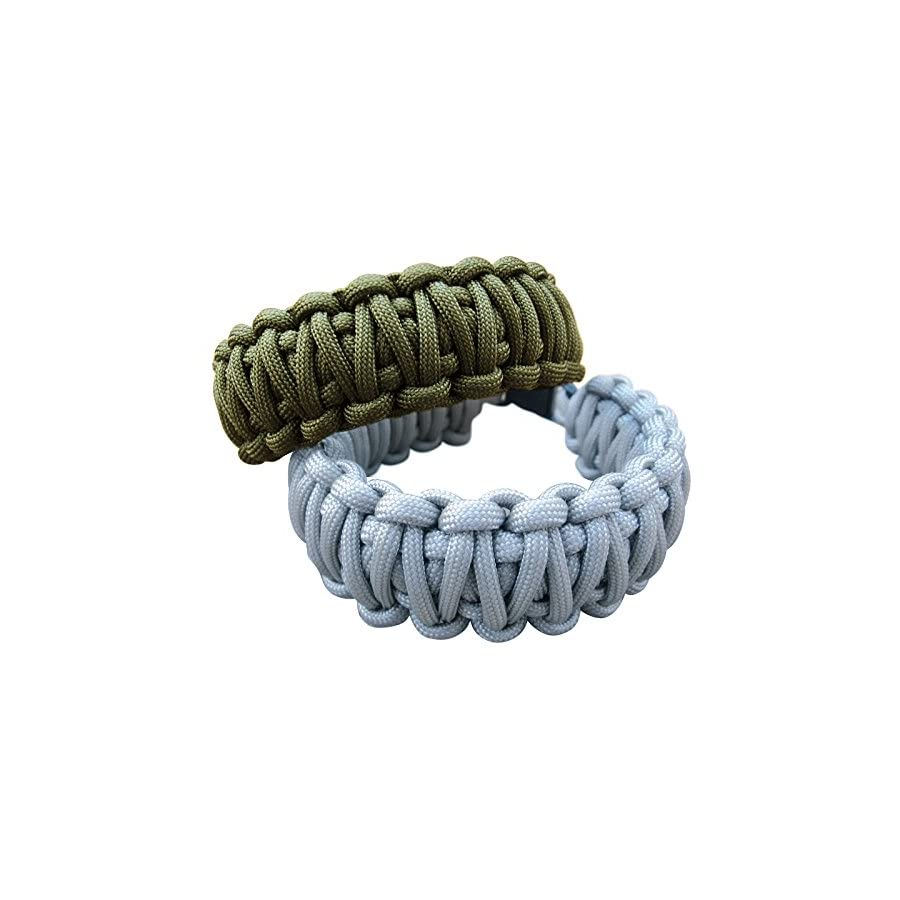 Zacro 400lb Survival Paracord Combo Crafting Kits in 10ft in 10 Colors with Pack of 10 Buckles