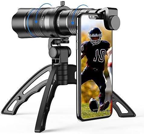 Apexel Zoomobjektiv Hd 20 40x Mit Stativ Teleobjektiv Für Handy Für Iphone Samsung Und Andere Smartphones Gut Für Jagd Camping Sport Elektronik
