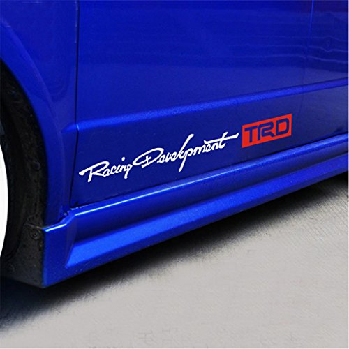 Kaizen TRD Personality Side Skirt Decals Sticker Creative Decals Vinyl Sticker For Toyota Carola Carmy Prado Highlander RAV and Any SUV,Truck or Sedan Car Color (Racing Types Side Skirts)