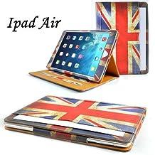 Jellybean Étui en cuir avec film protecteur d'écran pour iPad Air Motif drapeau anglais