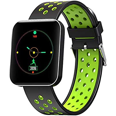 Diadia Smart Watch Waterproof IP67 Fitness Tracker Blood Pressure Heart Rate Monitor Activity Wristband for Running Climbing Biking Gifts and Toys Green Estimated Price £25.78 -