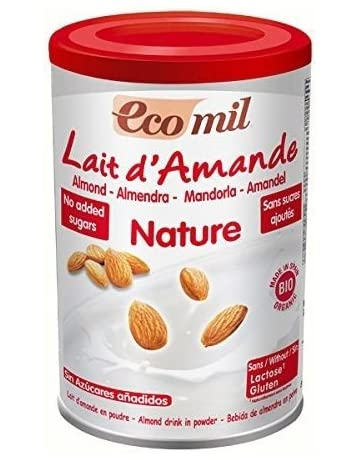 EcoMil almendra Orgánica leche en polvo sin azúcar añadido 400 g
