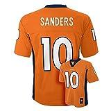 Emmanuel Sanders #10 Denver Broncos NFL Youth Boys Team Color Jersey Orange Size 10-12 Medium M