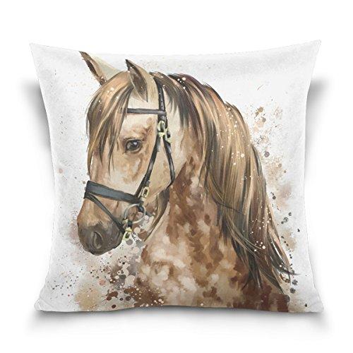 Top Carpenter Horse Head Velvet Plush Throw Pillow Cushion Case Cover - 16