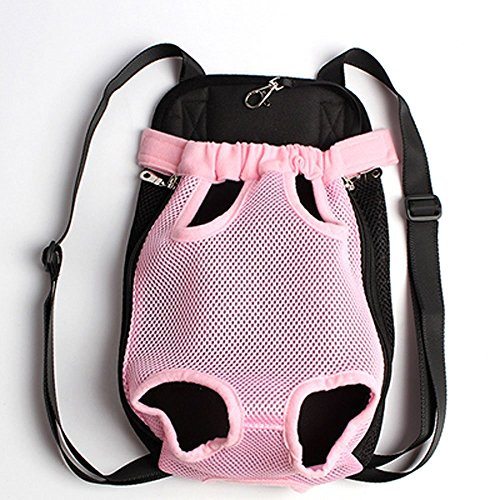 Mkono Fashion Portable Soft Pet Legs Head Out Travel Front Backpack Carrier Bag Case For Pet Dog Puppy Cat,Pink
