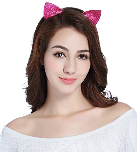 CAKYE Glitter Cat Ear Headband Party Hair