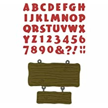 We R Memory Keepers Tiki Alphabet Die, 4-Inch by 8-Inch by QUICKUTZ