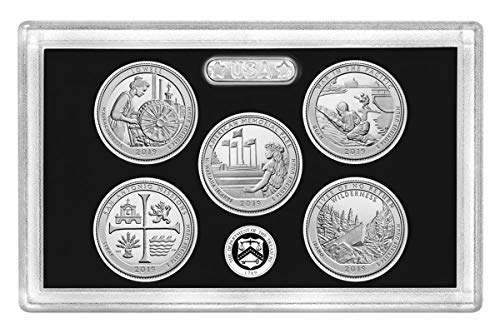 2019 S Silver Proof National Park Quarter 5-pc. Set No Box or COA Proof