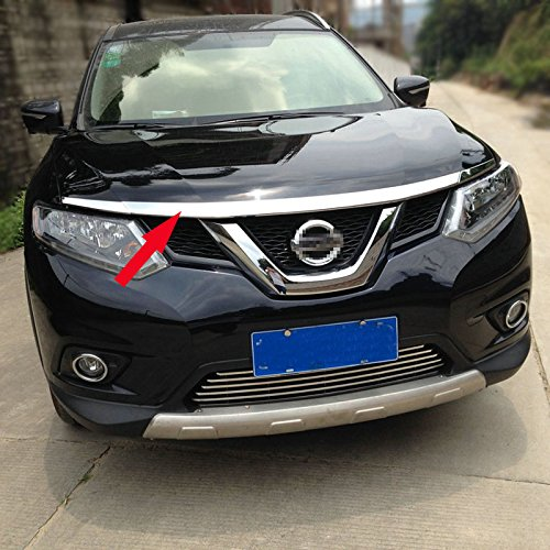 Generic ABS Front Hood Grill Cover Bonnet Trim Fit For Nissan X-Trail Rogue 2014 2015 2016 2017