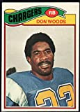 Football NFL 1977 Topps #248 Don Woods Chargers