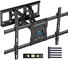Full Motion TV Wall Mount Bracket Dual Articulating Arms Swivels Tilts Rotation for Most 37-70 Inch LED, LCD, OLED Flat...