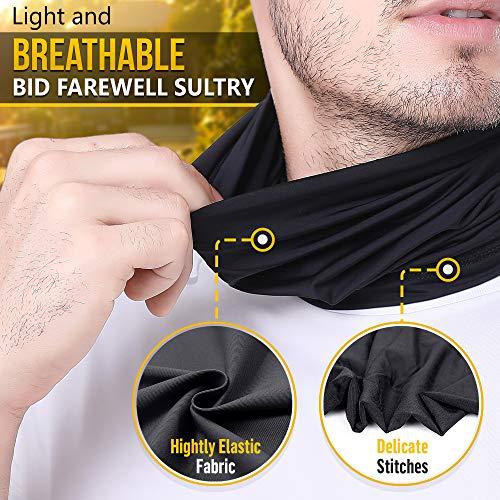 Self Pro Summer Face Mask Protection from Dust UV  Aerosols  Washable Neck Gaiter Balaclava Bandana