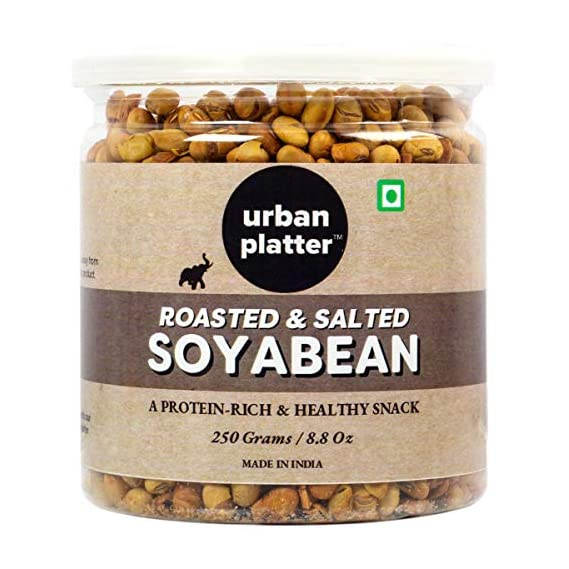 Urban Platter Roasted & Salted Soyabean, 250g / 8.8oz [Protein-Rich & Healthy Snack]