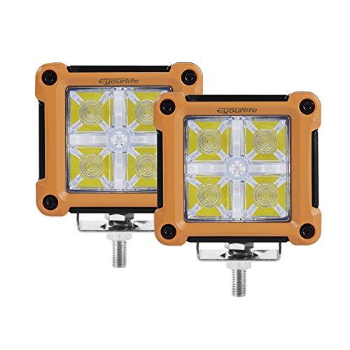 LED DRL luz Pods, Eyourlife–8,1cm 20W LED Luz de trabajo Radiance retroiluminación LED Foco foco LED de Alta...