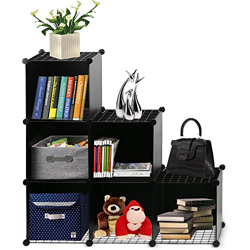 Famistar 3-tier Plastic DIY Cube Storage Closet Portable Display Cabinet Bookcase Shelf Oragnizer (Cabinet Book Online)