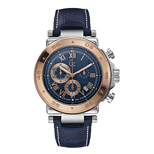 Guess Collection X90015G7S 44mm Stainless Steel Case Blue Calfskin Synthetic Sapphire Men