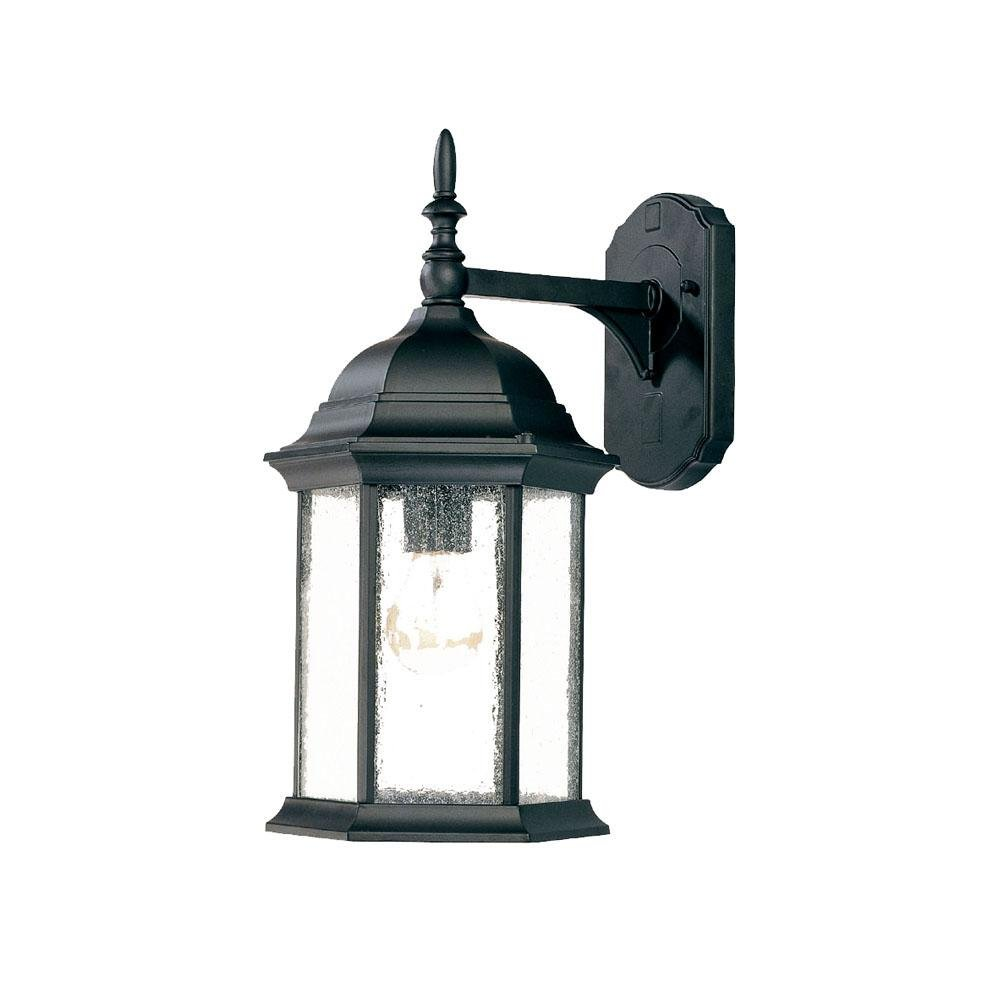 Light Fixture Collections: Acclaim 5189BK/SD Craftsman Collection 1-Light Wall Mount