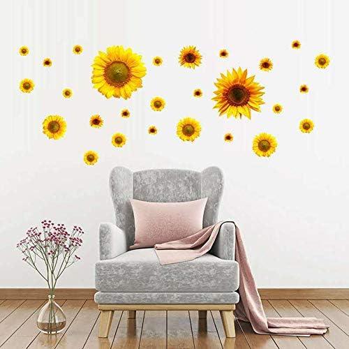 Waterproof Sunflower Wall Sticker Decal Home Bedroom Background Decor 60*90cm