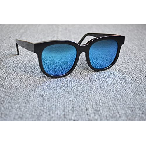 LXKMTYJ La tendance des lunettes de soleil rétro moderne personnalité polarisée Lunettes de soleil Lunettes miroir bleu Campagne, crapaud