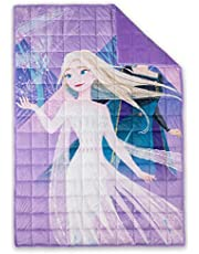 Disney Frozen Kid's Weighted Blanket 6lb, 40x60 inch Calming Plush Reversible Blanket for Girls by Expressions