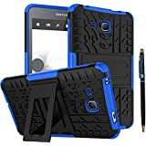 """Tab A 7 Inch Tablet Case DWaybox 2in1 Combo Hybrid Armor Rugged Heavy Duty Hard Back Case Cover with Kickstand for Samsung Galaxy Tab A 7.0 Inch SM-T280 / T285 / Samsung Tab A6 A7 7.0"""" (Blue)"""