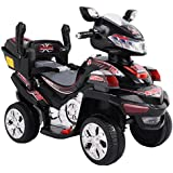 Kids-Ride-On-ATV-Quad-4-Wheel-Electric-Toy-Car-6V-Battery-Power-W-Remote-Black