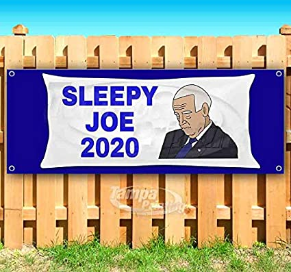 Many Sizes Available New Advertising Flag, Sleepy Joe 13 oz Heavy Duty Vinyl Banner Sign with Metal Grommets Store
