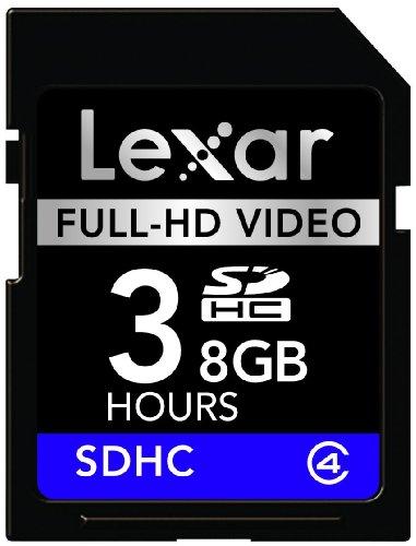 Lexar Media SDHC 8 GB Class 4 Full-HD Video Flash Memory ...