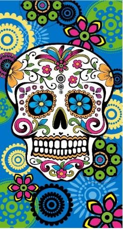 Regalitostv (Calavera Tatoo Azul) Day of The Dead* Toalla Playa Grande 95 X 175 CM Tacto Terciopelo 100% Microfibra (300g) (Calavera Tatoo Azul): Amazon.es: ...