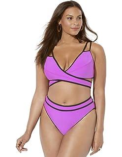 b07c47041f62e Swimsuits for All Women s Plus Size Ashley Graham Hotshot Striped ...