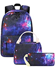 BLUBOON School Backpack Canvas Casual School Bookbag for Teens Girls