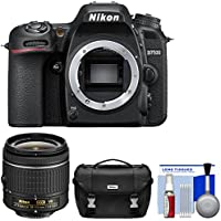 Nikon D7500 Wi-Fi 4K Digital SLR Camera Body 18-55mm G VR AF-P Lens + Case + Kit (Certified Refurbished)