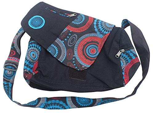 Hobo Black Mix Boho coloré Navy IMPRIMÉ SHOUPING Nepalese Sac IMPRIMÉ Moontang Coton Shopping Travel Taille Mix Zqw6I1wg