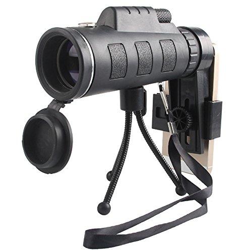 XIN 40X60 Telescopio Móvil de Alta Definición de Brillo Alto Brillo de Telescopio de Película Verde de Baja Luz - Binoculares de Visión Nocturna,UN da1441
