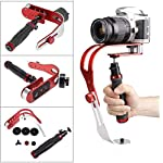 Electomania Camera Stabilizer Motion Steady Cam for DSLR Camera Camcorder DV-Or Any Camera up to 2.1 lbs (Red and Black) 7