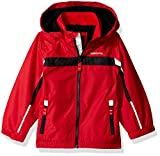 London Fog Baby Toddler Boys' Hooded Midweight Jacket Colorblocked, Red/Black, 3T