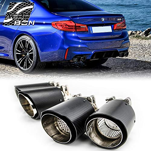 AeroBon Carbon Fiber M Performance Exhaust Tips Muffler Pipes for BMW F90 M5, 18-19